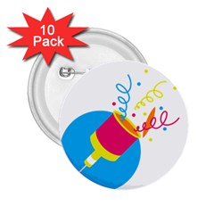 Celebration Injecting 2 25  Buttons (10 Pack)