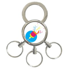 Celebration Injecting 3 Ring Key Chains by Mariart