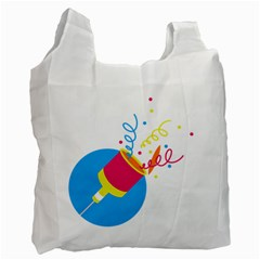 Celebration Injecting Recycle Bag (one Side) by Mariart