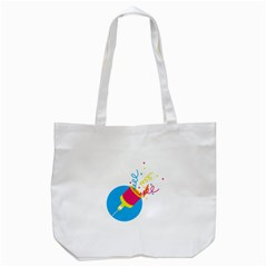 Celebration Injecting Tote Bag (white) by Mariart