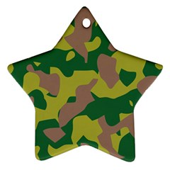 Camouflage Green Yellow Brown Ornament (star)
