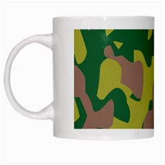 Camouflage Green Yellow Brown White Mugs by Mariart