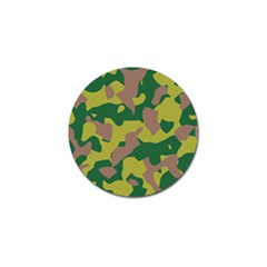Camouflage Green Yellow Brown Golf Ball Marker (4 Pack) by Mariart