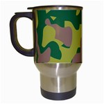 Camouflage Green Yellow Brown Travel Mugs (White) Left