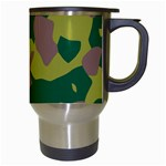 Camouflage Green Yellow Brown Travel Mugs (White) Right