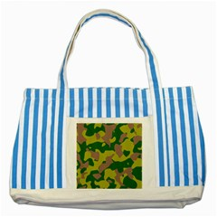 Camouflage Green Yellow Brown Striped Blue Tote Bag by Mariart