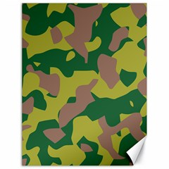Camouflage Green Yellow Brown Canvas 18  X 24   by Mariart