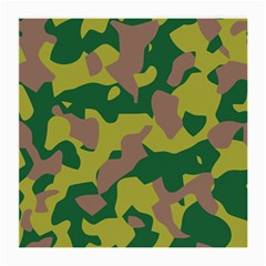 Camouflage Green Yellow Brown Medium Glasses Cloth (2 Side) by Mariart
