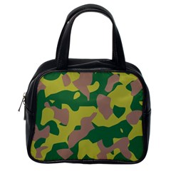 Camouflage Green Yellow Brown Classic Handbags (one Side) by Mariart