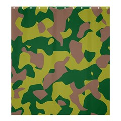 Camouflage Green Yellow Brown Shower Curtain 66  X 72  (large)  by Mariart