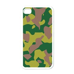 Camouflage Green Yellow Brown Apple Iphone 4 Case (white) by Mariart