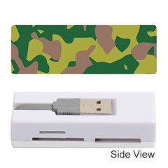 Camouflage Green Yellow Brown Memory Card Reader (stick)  by Mariart