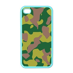 Camouflage Green Yellow Brown Apple Iphone 4 Case (color) by Mariart