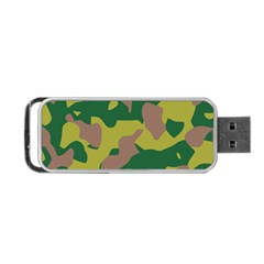 Camouflage Green Yellow Brown Portable Usb Flash (two Sides) by Mariart