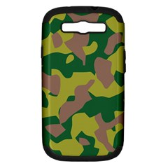Camouflage Green Yellow Brown Samsung Galaxy S Iii Hardshell Case (pc+silicone) by Mariart