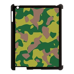 Camouflage Green Yellow Brown Apple Ipad 3/4 Case (black) by Mariart