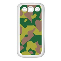 Camouflage Green Yellow Brown Samsung Galaxy S3 Back Case (white) by Mariart
