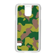 Camouflage Green Yellow Brown Samsung Galaxy S5 Case (white) by Mariart