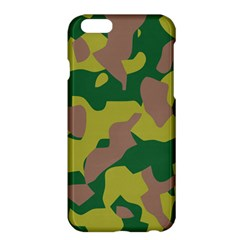 Camouflage Green Yellow Brown Apple Iphone 6 Plus/6s Plus Hardshell Case by Mariart