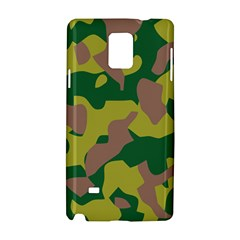 Camouflage Green Yellow Brown Samsung Galaxy Note 4 Hardshell Case by Mariart