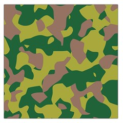 Camouflage Green Yellow Brown Large Satin Scarf (square) by Mariart