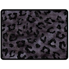 Skin5 Black Marble & Black Watercolor Fleece Blanket (large) by trendistuff