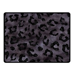 Skin5 Black Marble & Black Watercolor Double Sided Fleece Blanket (small) by trendistuff