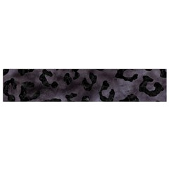 Skin5 Black Marble & Black Watercolor Flano Scarf (small) by trendistuff