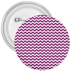 Chevron Wave Purple White 3  Buttons