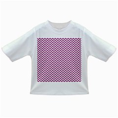 Chevron Wave Purple White Infant/toddler T Shirts by Mariart