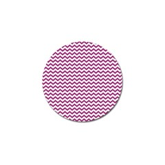 Chevron Wave Purple White Golf Ball Marker