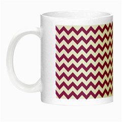 Chevron Wave Purple White Night Luminous Mugs by Mariart