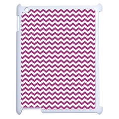 Chevron Wave Purple White Apple Ipad 2 Case (white) by Mariart