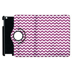 Chevron Wave Purple White Apple Ipad 3/4 Flip 360 Case by Mariart