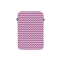 Chevron Wave Purple White Apple Ipad Mini Protective Soft Cases by Mariart
