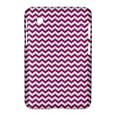Chevron Wave Purple White Samsung Galaxy Tab 2 (7 ) P3100 Hardshell Case  by Mariart