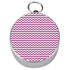 Chevron Wave Purple White Silver Compasses by Mariart