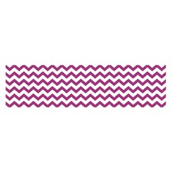 Chevron Wave Purple White Satin Scarf (oblong) by Mariart