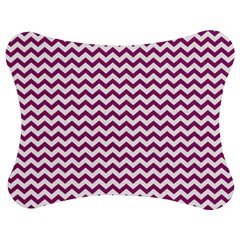 Chevron Wave Purple White Jigsaw Puzzle Photo Stand (bow)