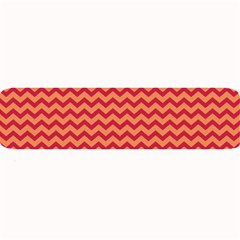 Chevron Wave Red Orange Large Bar Mats by Mariart