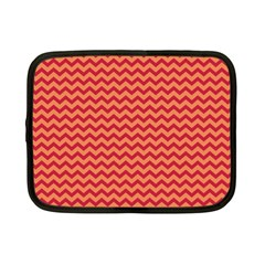 Chevron Wave Red Orange Netbook Case (small)  by Mariart