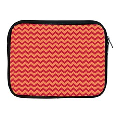 Chevron Wave Red Orange Apple Ipad 2/3/4 Zipper Cases by Mariart