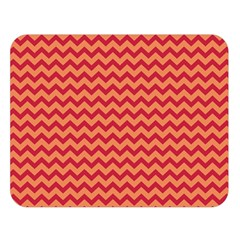 Chevron Wave Red Orange Double Sided Flano Blanket (large)  by Mariart