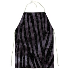 Skin4 Black Marble & Black Watercolor (r) Full Print Apron by trendistuff