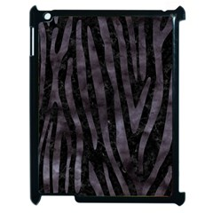 Skin4 Black Marble & Black Watercolor (r) Apple Ipad 2 Case (black)