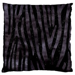 Skin4 Black Marble & Black Watercolor (r) Large Cushion Case (two Sides) by trendistuff