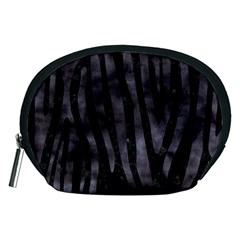 Skin4 Black Marble & Black Watercolor (r) Accessory Pouch (medium) by trendistuff