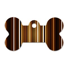 Brown Line Image Picture Dog Tag Bone (two Sides) by Mariart