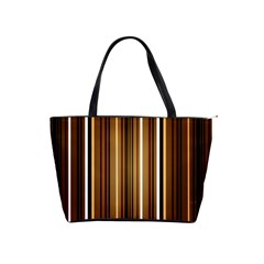 Brown Line Image Picture Shoulder Handbags by Mariart