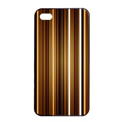 Brown Line Image Picture Apple Iphone 4/4s Seamless Case (black) by Mariart